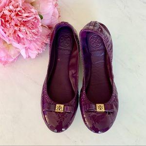 Tory Burch Purple Bow Flats